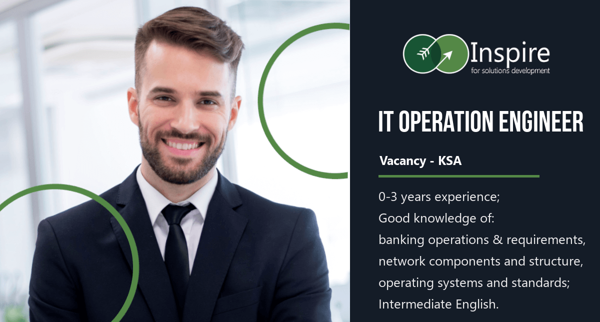 IT Operation Engineer Vacancy in KSA