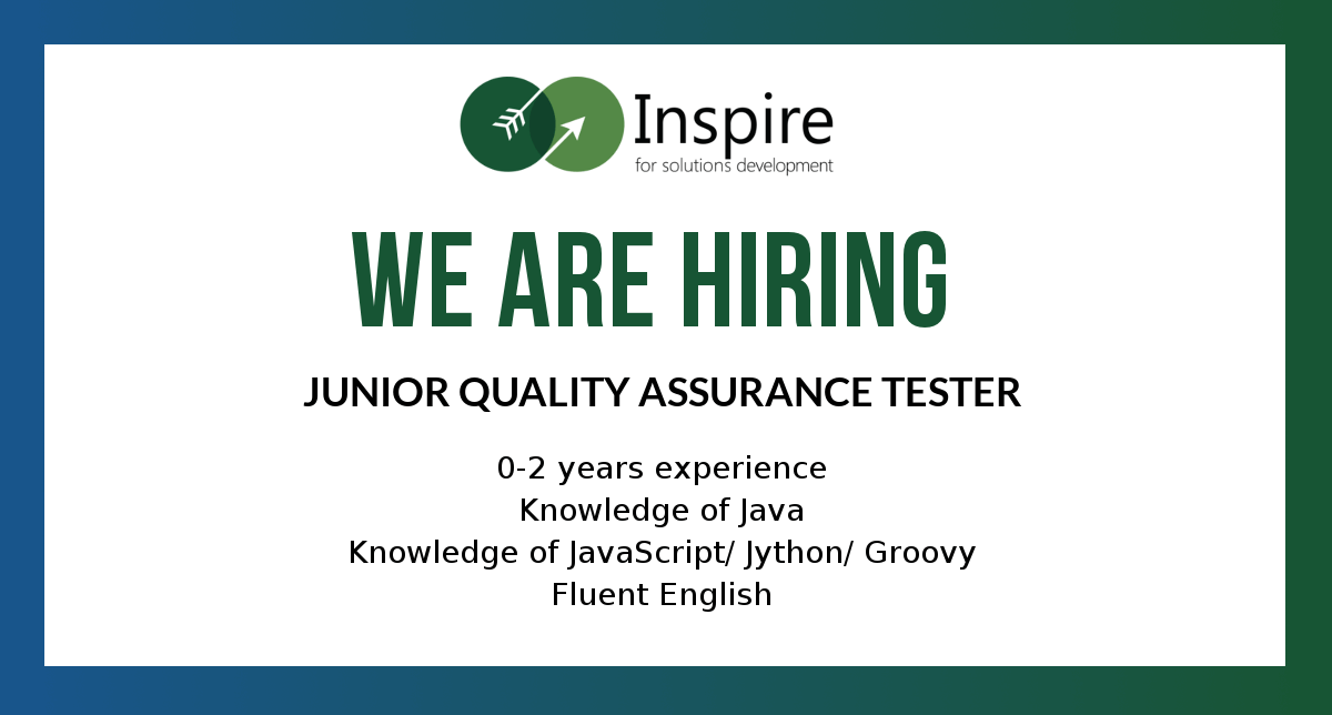 vacancy Junior Quality Assurance Tester